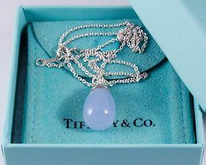 Tiffany co paloma piccaso 20 carat blue chalcedony pendant 18 image is loading tiffany amp co paloma piccaso 20 carat blue aloadofball Images