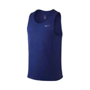 44a4e10600 Mens Nike Dry Miler Running Tank Top Size M L XL XXL Navy Blue ...