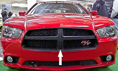 Dodge Charger CARBON FIBER Front Grille Overlay Decal 2011 2012 2013 2014
