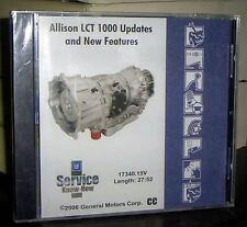 2006 2007 ALLISON LCT 1000 AUTOMATIC TRANSMISSION UPDATES & NEW FEATURES DVD