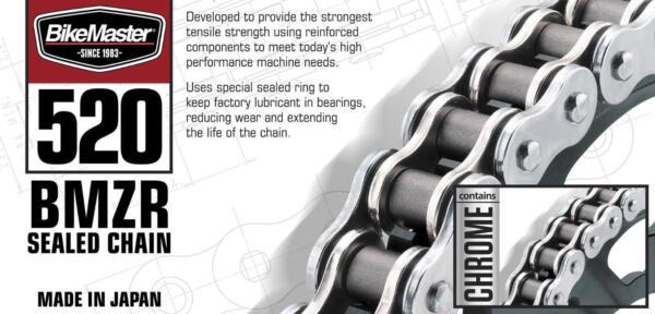 BikeMaster Rivet Connecting Link for 520 BMZR Series Z-Ring Chain 520BMZR-BMR//G