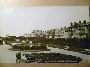 1914-Used-Postcard-SOUTH-PROMENADE-GARDENS-ST-ANNES-Lincolnshire-No-63798-STAMP