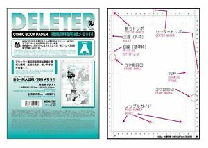 NEW-Deleter-Comic-Book-Paper-Ruler-A-Type-40-Sheets-Free-S-H-Japan-s7061