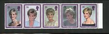 Great Britain Complete MNH Strip of 5 #1995a Princess Diana Stamps