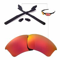 Wl Fire Red Lenses And Black Rubber Kit For Oakley Half Jacket 2.0 Xl
