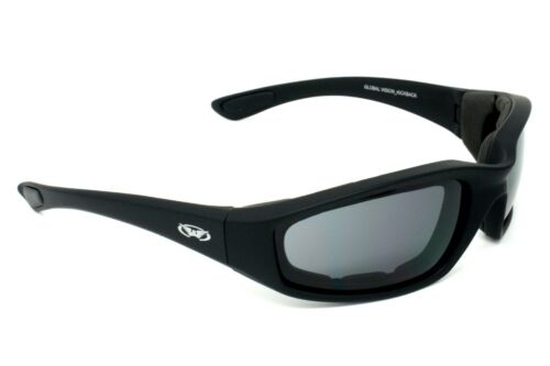 EVA lined motorcycle sunglasses/wraparound biker glasses + Free pouch & postage