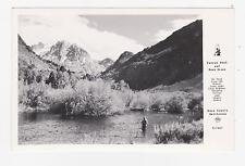 RPPC,Mono County,CA.Rush Creek & Carson Peak,Man Fishing in River,Frasher,c.1945