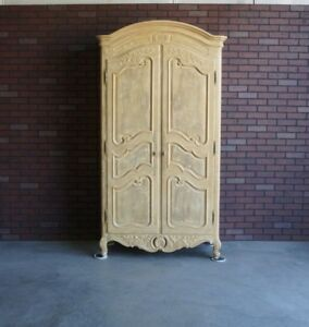 Image Is Loading Armoire French Provincial Wardrobe Country By