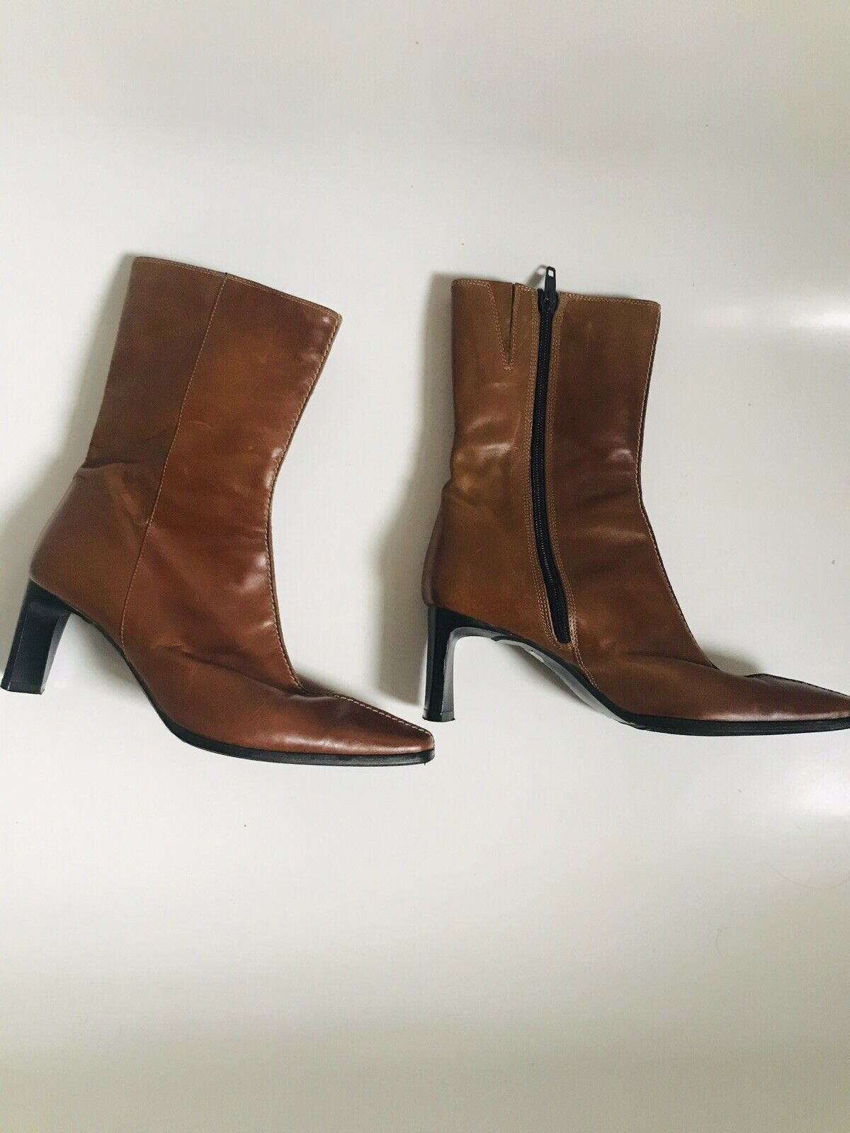 Clarks Elastomere Leather Boots Size 4