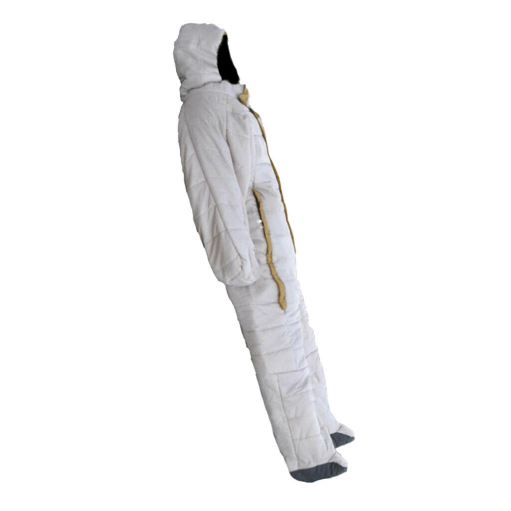 Human Shape Wearable Sleeping Bag Suit for Home Office Camping Hospital