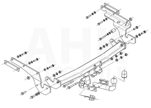 Für Toyota Yaris II XP9 3//5-Tür 06-11 Anhängerkupplung starr+E-Satz 13p