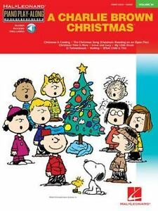 piano play along a charlie brown christmas vol 34 piano play along 2006 paperback mixed media