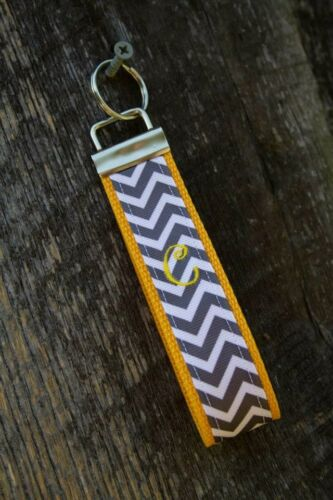Curly Font Initial Key Fob Style Keychains