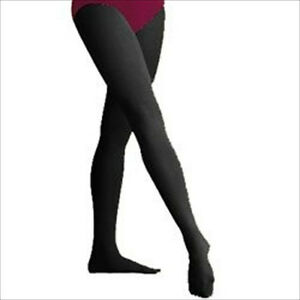 0afe65a49633 New Capezio Child Nylon Run Proof Footed Tights in Black for Dance ...