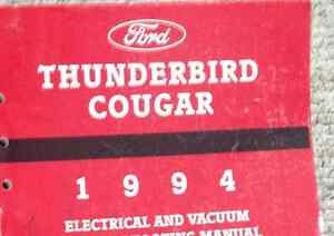 image is loading 1994-ford-thunderbird-amp-mercury-cougar-electrical-wiring-