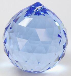 swarovski kristalle kristallkugel medium sapphire blau feng shui deko anh nger ebay. Black Bedroom Furniture Sets. Home Design Ideas
