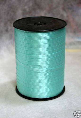 """Turquoise 3//16/"""" Curling Ribbon 500 Yards Spool"""