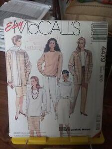 Oop-Mccalls-Easy-4479-misses-stretch-knit-jacket-tops-pants-skirt-sz-8-10-NEW