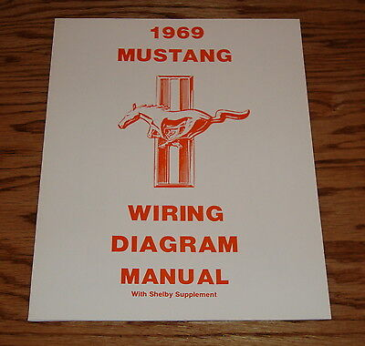 1969 ford mustang wiring diagram manual with shelby supplement 69  ebay