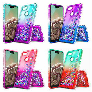 another chance 731dc 2e8c5 Details about Google Pixel 2 / Pixel 2 XL | Liquid Glitter Bling Cover Case  + Screen Protector