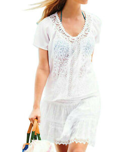 eea1f453f6 Ladies Beach Cover up Dress White Holiday Play suit Jumpsuit Summer ...