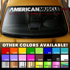 "AMERICAN MUSCLE CAR MURICA Windshield Banner Premium Vinyl Decal Sticker 45x3.5"""