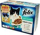 Felix Pouch Meaty Loaf Meat Selection 12 X 100g BULK Deal of 4 4800g