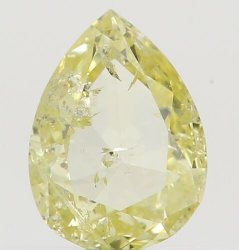 0.19 Ct Natural Loose Diamond Pear Yellow I1 Clarity 4.50X3.30X1.60MM L2545