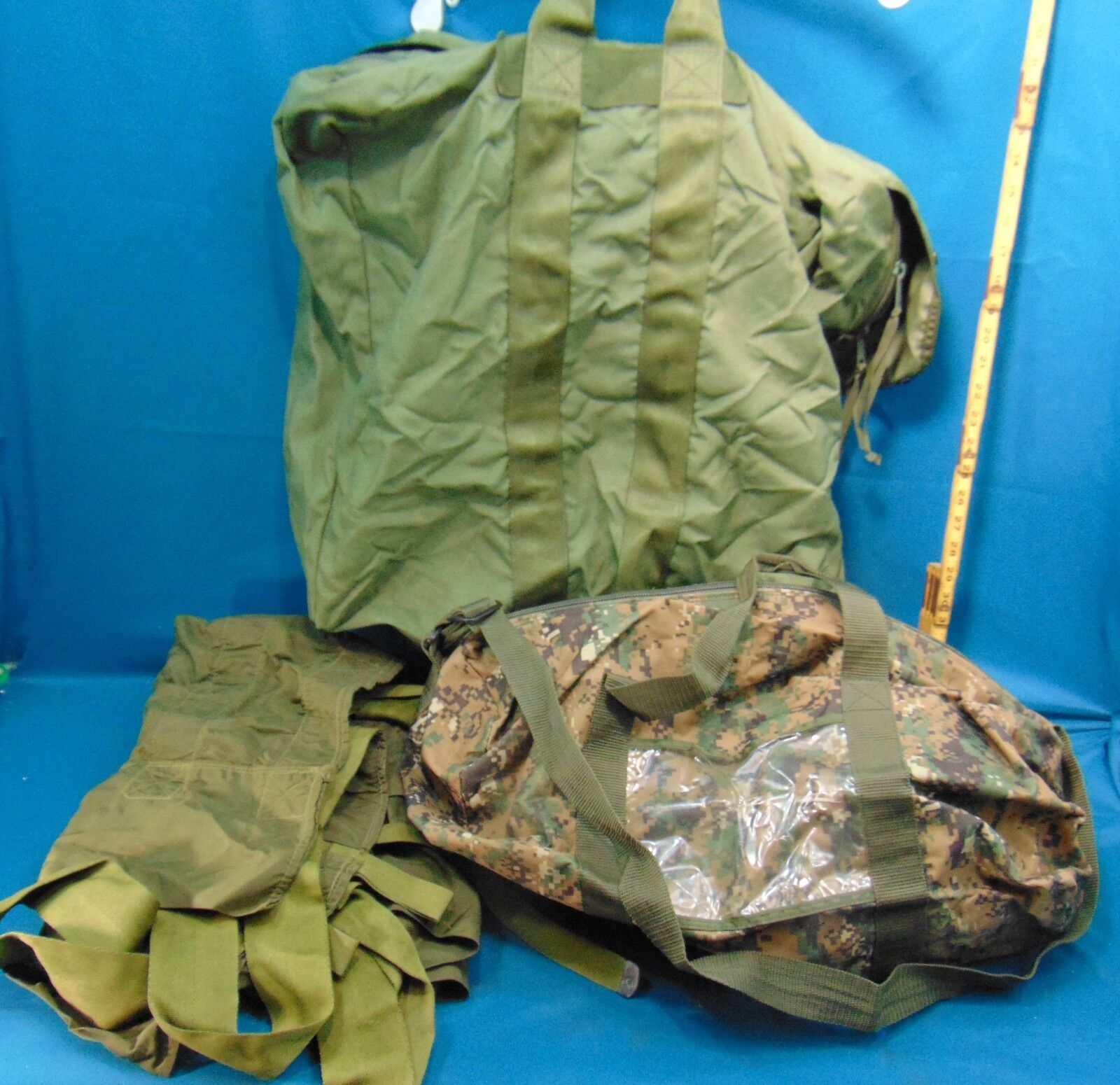 Lot of 3 Military Type Carry Bags/Duffles
