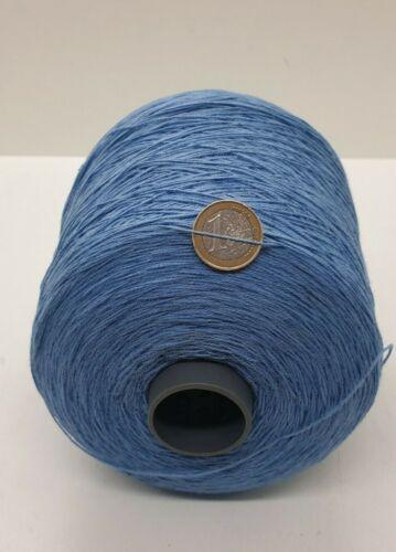 natur Wolle Garn Stricken /& häkeln|Kone 100/% baumwol blau 700gr Nm14//2 bw96
