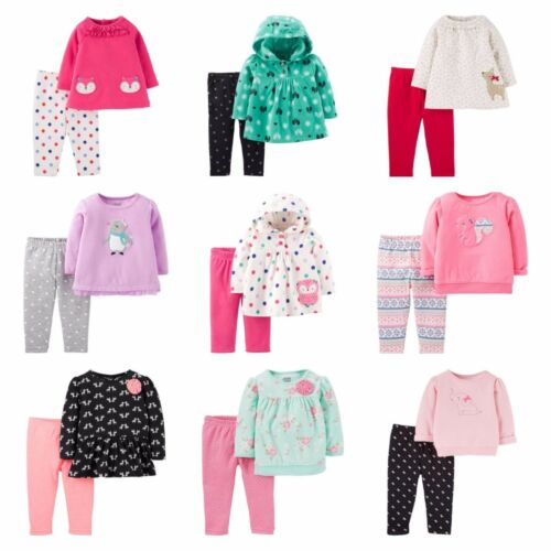 Child of Mine Girls Toddler 2 piece Outfit set Leggings pants Microfleece Cotton