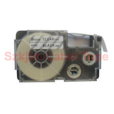 Compatible Casio XR-9X Black on Clear 9mm 8m Label Tape KL-60SR KL-60 XR-9X1