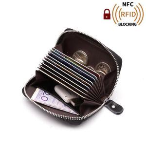 a57478558 La imagen se está cargando Tarjetero-RFID-Cartera-Hombre-Piel-Mini-Monedero -Billetera-