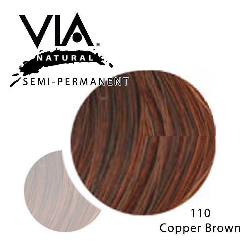 Via Natural Semi Permanent Hair Color Rinse With Aloe Vera 4oz 110