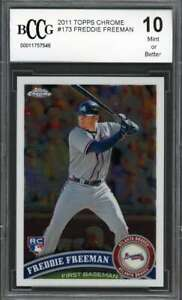 Freddie-Freeman-Rookie-Card-2011-Topps-Chrome-173-Atlanta-Braves-BGS-BCCG-10