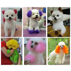 Details about JQ_ 100ml Pet Dog Hair Color Dye Coloring Dyeing Harmless  Natural Dyeing Agent