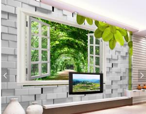 3D Window Vines 75 Wall Paper Murals Wall Print Wall Wallpaper Mural AU Lemon