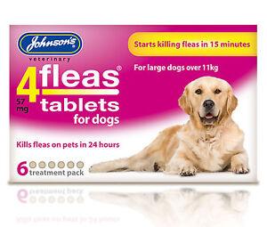 Johnson-039-s-4-pulgas-comprimidos-perros-grandes-11kg-paquete-De-6