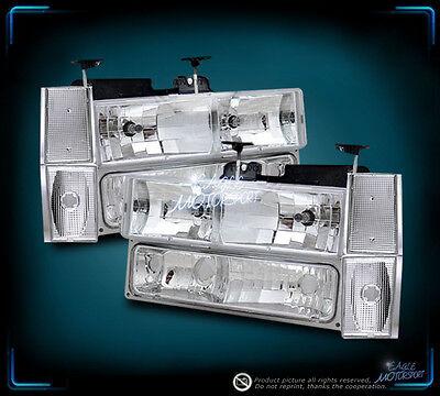 1988-1993 Chevy/GMC Pick-Up Truck Crystal Clear Headlights /Bumper Lamp /Corner