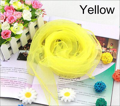 Child Lady Women's Fashion Chiffon Silk Slim Soft Square Scarf Pure Candy Color