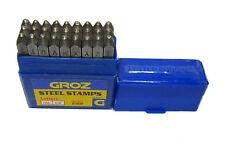 GROZ LETTER STAMPS 3MM DIAMETER NEW SET 3MM STEEL STAMPS ( DAMAGED BOX ) RDG