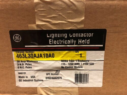 GE Lighting Contactor 463L30AJA10A0 Electrically Held BRAND NEW IN BOX