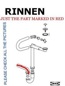 Odensvik IKEA New Drain Kit Plumbing Set RINNEN 13981 to 1 Bowl Sink Braviken
