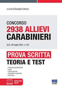 5448622 2082912 Libri Concorso 2938 Allievi Carabinieri (G.U. 20 Luglio 2021, N.