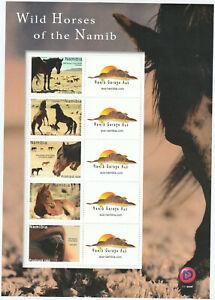 Namibia-Wilde-Pferde-Wild-Horses-Kleinbogen-2019-postfrisch-UHM