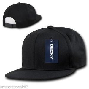 6d2cd824 BLACK Air Mesh SNAPBACK HAT Cool Dri Fit Cap plain blank flat bill 6 ...