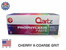 QARTZ PROPHY PASTE CUPS CHERRY X-COARSE 200/BOX DENTAL NON SPLATTER W/FLOURIDE
