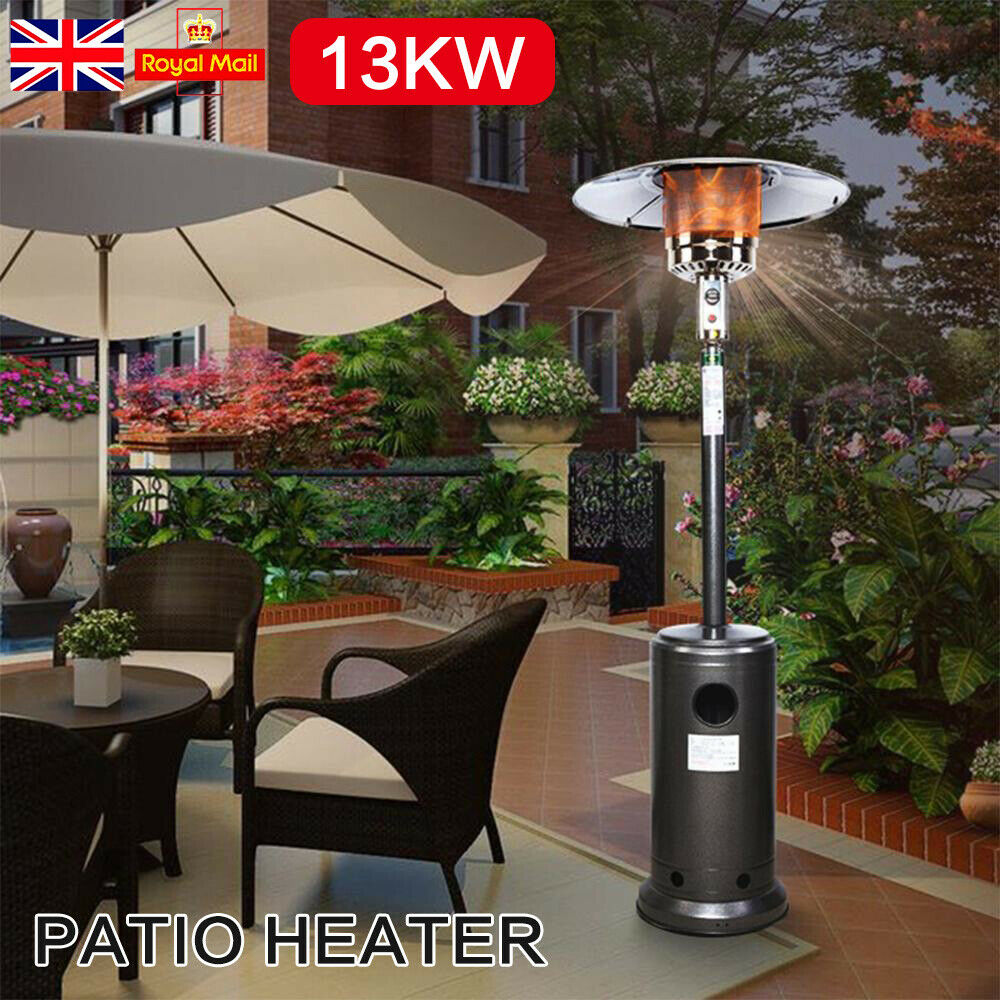 46000BUT Gas Patio Outdoor Heater LPG Portable Heater WITH WHEELED Stand Steel