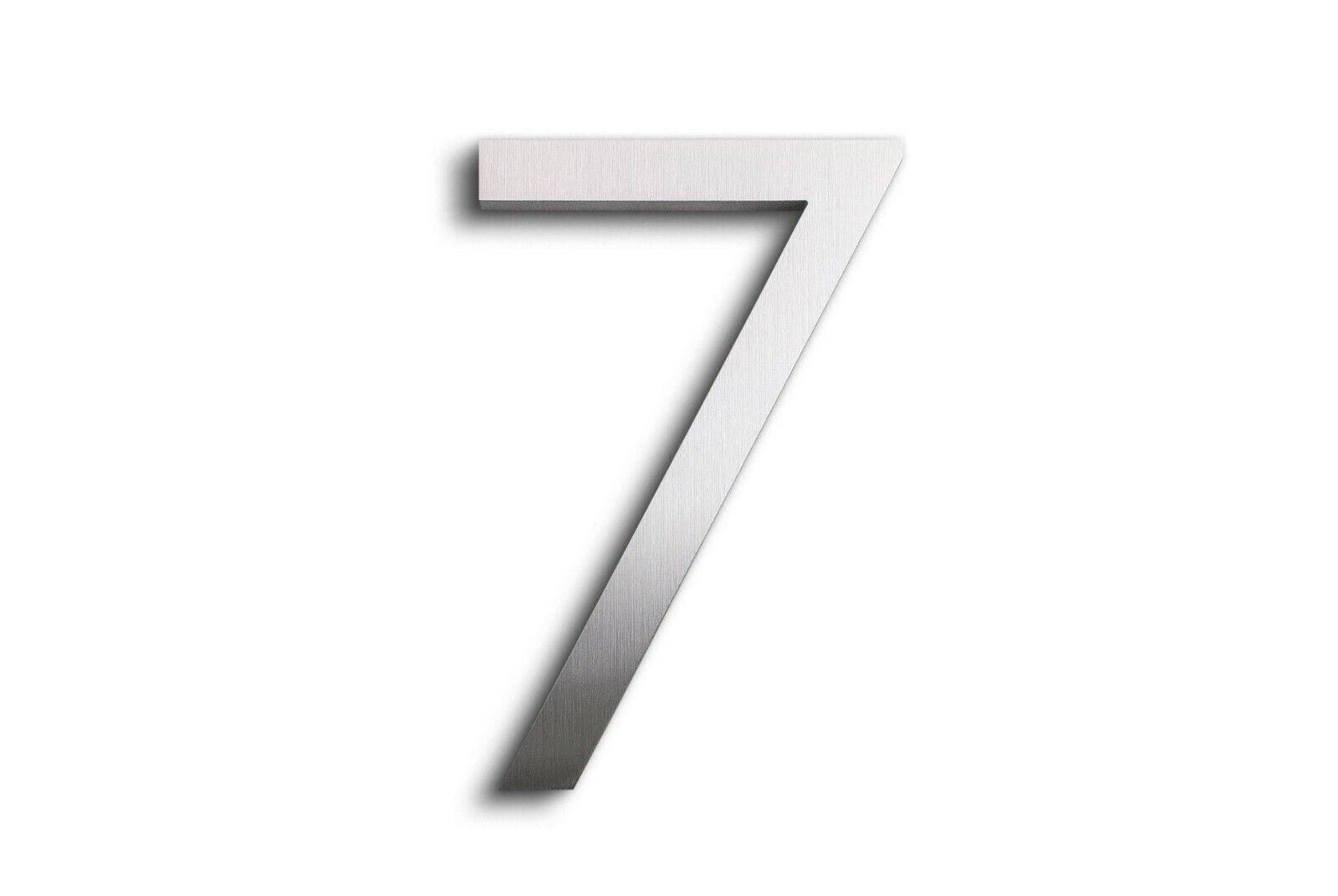 Modern House Number Aluminum Modern Font Number SEVEN 7