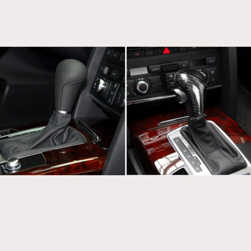 Carbon Fiber Gear Shift Knob Trim Cover Trim For Audi A6L Q5 A5 A4L Q7 05-12